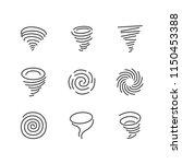 Tornado Flat Line Icons....