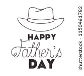 fathers day handmade font with... | Shutterstock .eps vector #1150461782