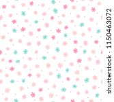 repeated small cute flowers and ... | Shutterstock .eps vector #1150463072