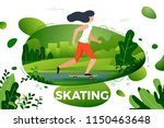 vector illustration   sporty... | Shutterstock .eps vector #1150463648