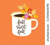 autumn greeting  card ... | Shutterstock .eps vector #1150464698