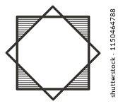 elegant rhombus frame decorative | Shutterstock .eps vector #1150464788