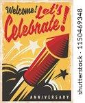 anniversary celebration retro... | Shutterstock .eps vector #1150469348