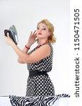 retro photo in 60's style ... | Shutterstock . vector #1150471505