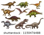 Dinosaur Animal Icons Of...