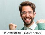 young handsome entrepreneur man ... | Shutterstock . vector #1150477808