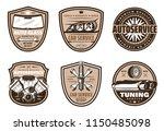 auto service retro grunge badge ... | Shutterstock .eps vector #1150485098