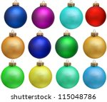 Collection of colored christmas ...