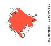 vector cartoon montenegro map... | Shutterstock .eps vector #1150497512