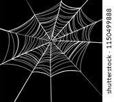 spider web on black background. | Shutterstock .eps vector #1150499888