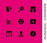 web icon. 9 web set with...