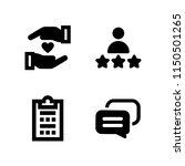 4 feedback icons in vector set. ... | Shutterstock .eps vector #1150501265