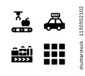 4 manufacture icons in vector... | Shutterstock .eps vector #1150502102