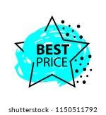 best price sale star stamp.... | Shutterstock .eps vector #1150511792