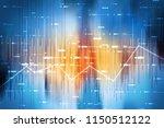2d rendering stock market... | Shutterstock . vector #1150512122