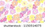 seamless flowers pattern.... | Shutterstock .eps vector #1150514075