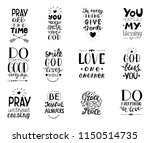 set of 12 hand lettering... | Shutterstock .eps vector #1150514735