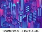 isometric trendy violet blue... | Shutterstock .eps vector #1150516238