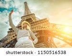 woman tourist selfie near the... | Shutterstock . vector #1150516538
