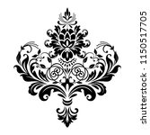 damask graphic ornament. floral ... | Shutterstock .eps vector #1150517705