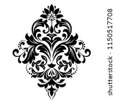 damask graphic ornament. floral ... | Shutterstock .eps vector #1150517708