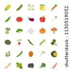 vegetables flat icons set  | Shutterstock .eps vector #1150519052