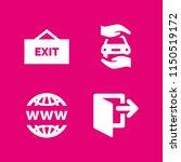 password icon. 4 password set... | Shutterstock .eps vector #1150519172