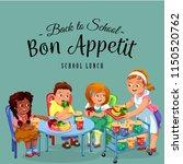 school dinner poster   Shutterstock .eps vector #1150520762