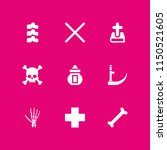 death icon. 9 death set with... | Shutterstock .eps vector #1150521605