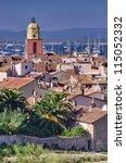 Saint Tropez, French Riviera beautiful cityscape - stock photo