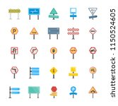 road signs and junctions flat... | Shutterstock .eps vector #1150524605
