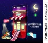 shopping online mobile phone... | Shutterstock .eps vector #1150539665
