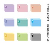 colorful two paper icon set.... | Shutterstock .eps vector #1150545638