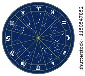 zodiac signs. set and signs of... | Shutterstock .eps vector #1150547852