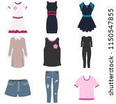 women's clothing  a set of... | Shutterstock .eps vector #1150547855