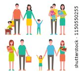 family members cartoon... | Shutterstock .eps vector #1150550255