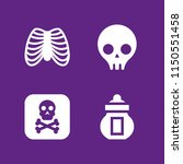 death icon. 4 death set with... | Shutterstock .eps vector #1150551458