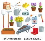 vector gardening tools and... | Shutterstock .eps vector #1150552262