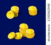 coins for the game interface.... | Shutterstock .eps vector #1150562948