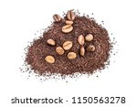 heap of ground coffee with... | Shutterstock . vector #1150563278