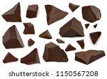 broken chocolate pieces  or... | Shutterstock . vector #1150567208