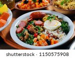 tropeiro beans with sausage... | Shutterstock . vector #1150575908