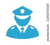 policeman vector sign... | Shutterstock .eps vector #1150576535