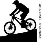 mountain biker silhouette....   Shutterstock .eps vector #1150579085