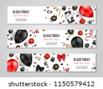 black friday sale horizontal... | Shutterstock .eps vector #1150579412