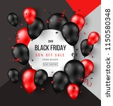 black friday sale poster with... | Shutterstock .eps vector #1150580348