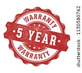 5 year warranty vector label... | Shutterstock .eps vector #1150580762