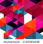 multicolored triangles abstract ... | Shutterstock .eps vector #1150581638