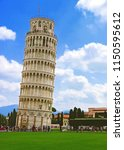 the leaning campanile of pisa... | Shutterstock . vector #1150595612