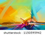 abstract color oil  acrylic... | Shutterstock . vector #1150595942